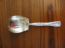 """WHITING Antique Sterling ROSES & SCROLLS BERRY / CASSEROLE SPOON 7-5/8"""" GW XC"""