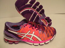 "Asics women""s gel kinsei 5 running shoes flash orange white purple size 8 us new"