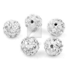 5/20pcs Crystal Disco Ball Beads Clay Pave Rhinestone Bracelet 6/8/10/12/16/20mm