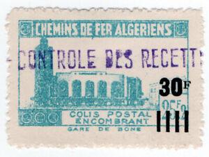 (I.B) France Colonial Railway : Algeria Chemins de Fer 30F on 25.2F