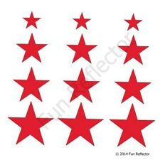 Red Stars Bicycle Reflective Stickers Decals