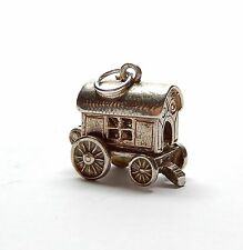 Vintage 925 Sterling Silver GYPSY WAGON OPENS TO FORTUNE TELLER Charm 3.7g