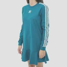 ADIDAS ORIGINALS BELLISTA GLITTERY  DRESS TEAL   BNWT SIZE UK  6,8,10  LAST 3