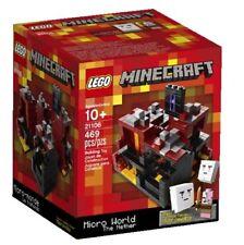 "LEGO 21106 CUUSOO MINECRAFT ""The Nether"" Micro World Ghasts+Zombie RARE 2013 SET"