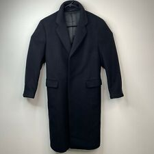 Vintage Nordstrom Overcoat Mens 36 R Wool Cashmere Blend Long Sleeve 80s Trench