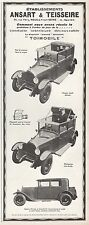 "PUBLICITE  AUTOMOBILE ANSART & TEISSEIRE "" TOIMOBILE""   CAR   AD  1927    9E"