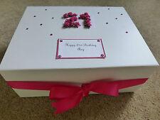 Keepsake Box Birthday personalised Memory Box  21st 30th 40th 50th many colours