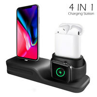 4 in1 Charging Stand Dock Station Holder For Apple Airpods iPhone 6 7 8 X 8Plus
