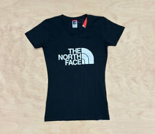 The North Face Womens Easy T Shirt Black  White - Short Sleeve