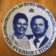 Swedish Plate Wedding between Carl XVI Gustaf and Silvia 19th June 1976