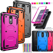 For LG Aristo 2/Rebel 4/ Phoenix 4 Hybrid Armor Shockproof Hard Case Phone Cover