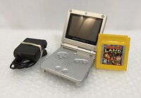 Nintendo Game Boy Advance SP Silver/Platinum W/ Charger and Donkey Kong. Tested!
