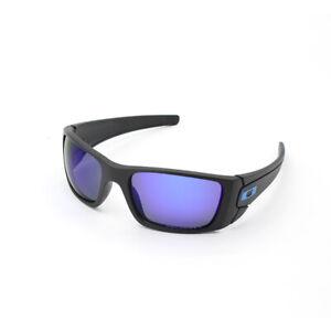 Brand New Oakley Fuel Cell Polarized sunglasses Matt Black Blue Lens OO9096-08