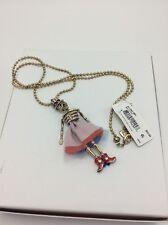 $65 Betsey Johnson AMERICAN Skull Necklace w 26
