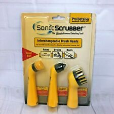 Sonic Scrubber Pro Detailer Automotive Cleaning Interchangeable Brush Heads