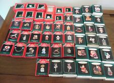 """Lot Of """"50"""" Vintage Hallmark ~ Keepsake Miniature Christmas Ornaments 1988~1999"""