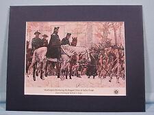 Washington Reviews his Army at Valley Forge & its own souvenir sheet (SC #1689)