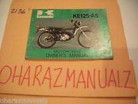 CR 1977 KAWASAKI KE125-A5 Owner Owners Owner's Manual