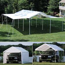 10x20x8 ShelterLogic 8 Leg Canopy With Enclosure & Extension Kit Carport 23532
