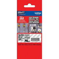 Brother TZeS131 TZS131 extra strength black on clear P-touch tape PT1090 PT1290