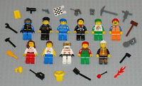 Lego MINIFIGURES Lot 11 People Police Girl Fireman City Space Toys Minifigs Guys