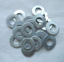 "Lot (20) Zinc Plated Steel 1/2"" Flat Washers 1-1/16"" OD Standard Hardware Grade"