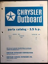 1968 Chrysler Outboard 3.5 HP Parts Catalog Manual 3018 3118 3028