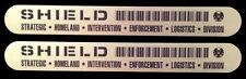 • SHIELD • SILVER ID TAG • PROP DECALS • METALLIC VINYL BLACK • MARVEL AGENTS •