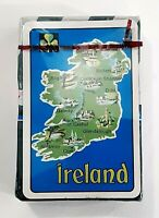 Ireland Playing Cards Deck Vintage Map Plastic Coated New Old Stock Sealed #I101