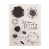 Sunflower Silicone Clear Seal Stamp DIY Scrapbooking Embossing Photo Album Decor