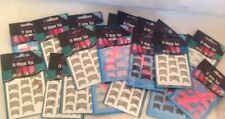 ** NEW ~ Mixed Lot Of 20 Packets Of Pink Tease Nail Tips Stickers ~ Various **
