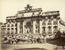 Italie, Roma, Fontana di Trevi Vintage albumen print  Tirage albuminé  20x25