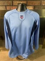 Vintage Minnesota Twins MLB BASEBALL PULLOVER Warmup Shirt Mens Size Medium