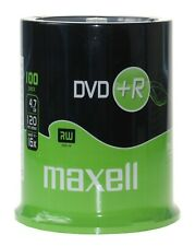 100 Maxell DVD+R Recordable Blank DVD Discs SPINDLE Pack - Clearance