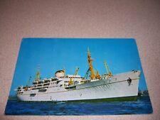 1970s TURKISH MARITIME LINES MV KARADENIZ SHIP VTG POSTCARD
