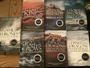 Game of Thrones  Set  Of Books George R. R. Martin 7 Books