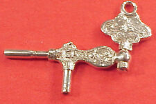 REPLICA CRANK STERLING SILVER POCKET WATCH KEY 4 FOB OR CHAIN