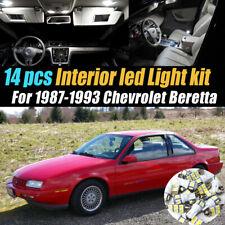 14Pc Super White Car Interior LED Light Bulb Kit for 1987-1993 Chevrolet Beretta