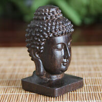 Wooden Sculpture Buddha Wood Carving Statue Sculpture Car Pendant Art