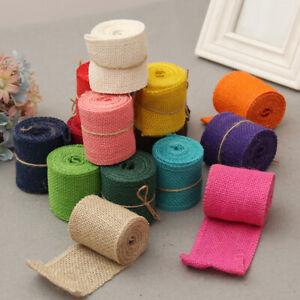 Colorful Natural Raw linen Ribbon DIY Lace Burlap Ribbon Clothings Accessories