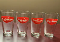 Budweiser King of Beers 1952 Retro Pint Glass - Set Of 4
