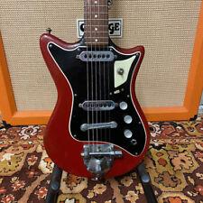 Vintage 1960s Burns London Sonic Model Red British Electric Guitar