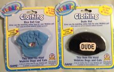 WEBKINZ NWT LOT OF 2 HATS  COSTUME BY GANZ NRFP UN USED CODE