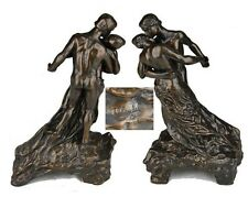 "SKULPTUR CAMILLE CLAUDEL / RODIN "" LA VALSE "" h. 27 cm NEU"