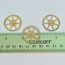 3 Flat Brass Watch Wheels 27mm Steampunk Gears Altered Art Movement Vintage Old
