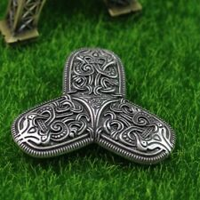Silver Viking Swirl Brooch Pin Jewellery Medieval Norse Celtic Mens Womens