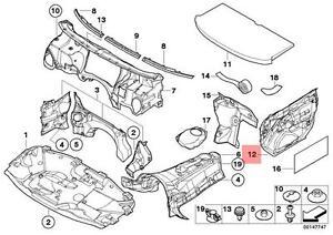 Genuine BMW E46 Sedan Wagon Sound Insulating Door Left Front OEM 51487114713