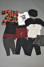 Baby Gap Black White Red Floral Dot Pug Stripe Hat Dress Pant Sweater Lot 6-12 M