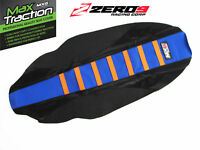 KTM Ribbed Gripper Seat Cover TO FIT SX125+SXF 16-18 SX250 EXC 17-18 Blu/Blk/Or