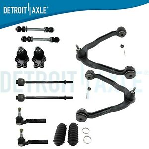 ROADFAR Front Inner and Outer Tie Rod Ends Left Right Sides Compatible fit 2002 2003 2004 2005 2006 for Chevrolet for GMC 1500 2500 4pcs Suspension Kit Suspension Set of 4